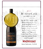 2013 Buried Cane Heartwood - Shelf Talker