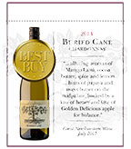 2014 Buried Cane Chardonnay - Shelf Talker