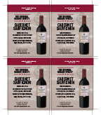 Original Garage Winery Cabernet Sauvignon Shelf Talker