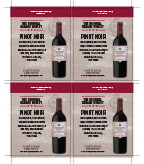 Original Garage Winery Pinot Noir Shelf Talker