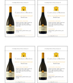 2012 Cartlidge & Browne Chardonnay - Shelf Talker