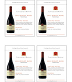 2012 Cartlidge & Browne Pinot Noir - Shelf Talker