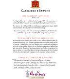 2012 Cartlidge & Browne Cabernet Sauvignon, North Coast