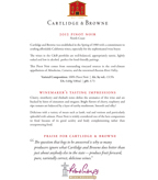 2012 Cartlidge & Browne Pinot Noir, North Coast