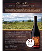 Cherry Pie Huckleberry Snodgrass Pinot Noir Sell Sheet
