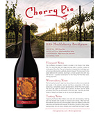 2014 Cherry Pie Huckleberry Snodgrass Pinot Noir