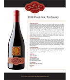 2016 Cherry Pie Tri-County Pinot Noir
