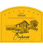 2012 Clayhouse Syrah, Paso Robles