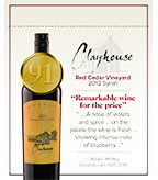 2012 Clayhouse Syrah - Shelf Talker