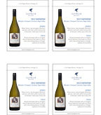 2012 Clos Pegase Chardonnay - Shelf Talker