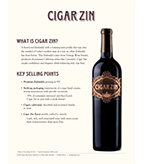 Cigar Zin Sell Sheet