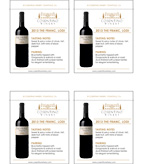 2013 Cosentino The Franc - Shelf Talker