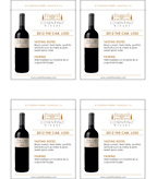 2012 Cosentino The Cab - Shelf Talker