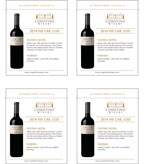 2014 Cosentino THE Cab - Shelf Talker