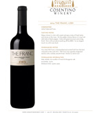 2014 Cosentino The Franc, Lodi
