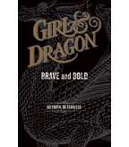Girl and Dragon Double-sided Case Card - Black