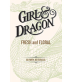 Girl and Dragon Double-sided Case Card - White
