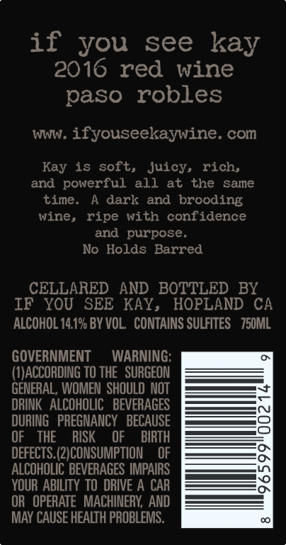 If You See Kay Label Back Trade Resources