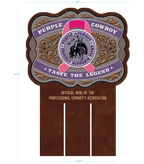 Purple Cowboy Belt Buckle Case Card