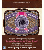 Purple Cowboy Tough Enough to Wear Pink