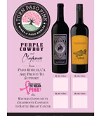 Tough Enough to Wear Pink - Purple Cowboy & Clayhouse Wines (table tent)