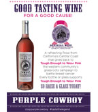 Purple Cowboy Rancher's Rose Table Tent
