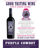 Purple Cowboy Tenacious Red Table Tent