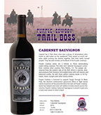 2016 Purple Cowboy Trail Boss, Cabernet Sauvignon, Paso Robles