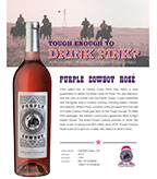 2014 Purple Cowboy Rancher's Rosé, Central Coast, CA