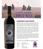 Purple Cowboy Trail Boss, Cabernet Sauvignon, Paso Robles
