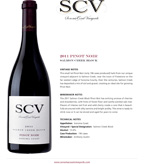 2011 SCV Pinot Noir, Salmon Creek