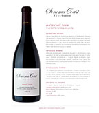 2015 SCV Pinot Noir, Salmon Creek Block