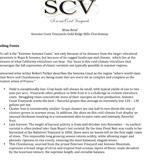 SCV Chardonnay Wine Brief