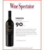 2012 Swanson Merlot Sell Sheet - Wine Spectator